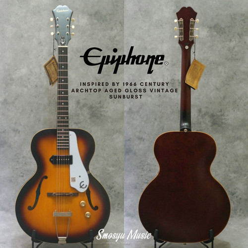 Foto Produk Epiphone Inspired by 1966 Century Archtop Aged Gloss Vintage Sunburst dari SMOSYU MUSIC