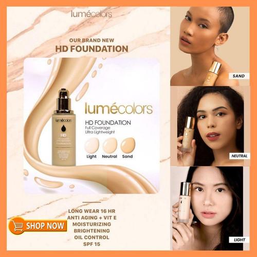 Foto Produk Foundation Lumecolors SPF 15 Lumecolor Foundation Tahan Lama AntiAging - Random Foundie dari Awikshop