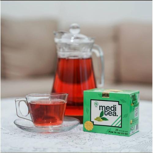 Foto Produk Meditea Teh Hijau untuk mengobati kanker payudara dari Mediteaid