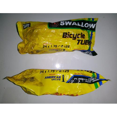 Foto Produk Ban Dalam Sepeda Swallow 24 x 1.75 / 2.125 - 24 x 175 / 2125 Swallow - AV 35mm dari piPIT STOP
