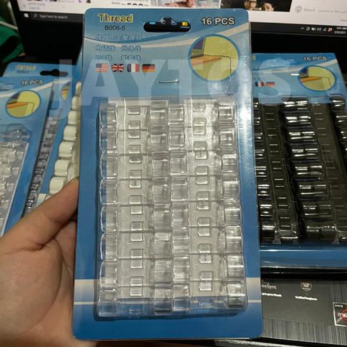 Foto Produk SALE 16Pcs Cable Clip Besar Organizer Klip Penjepit Merapikan Kabel - Transparant dari JAYTOS