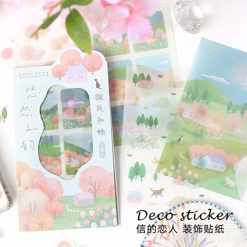 Foto Produk Leisurely Rhyme Diary Deco Stickers - Sticker Unik - Sticker Lucu dari Pinkabulous