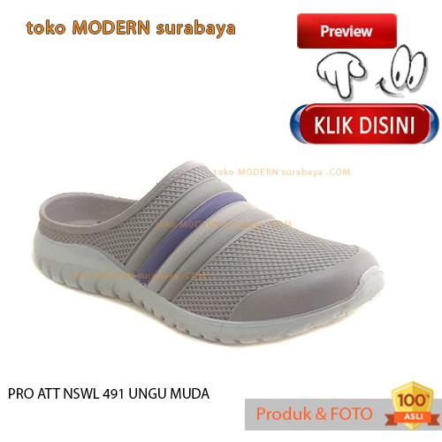 Foto Produk NO 38 PRO ATT NSWL 491 UNGU MUDA Sepatu Sandal Wanita Karet dari tokoMODERNsurabayaCOM