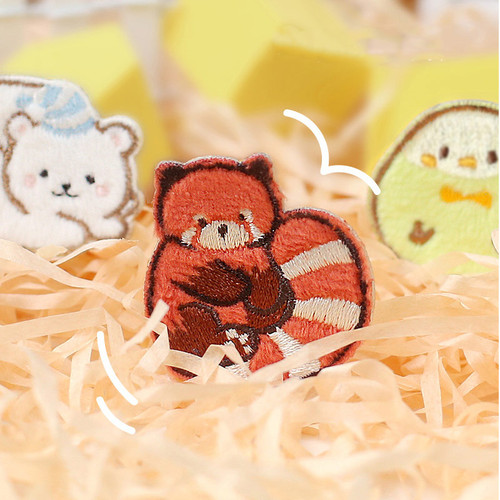 Foto Produk Chubby Zoo Series Embroidery Patch Sticker - Emblem Lucu - Emblem Kaos dari Pinkabulous