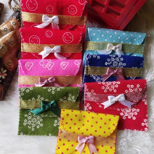 Foto Produk dompet angpao lebaran    dompet mini kain flanel isi 5pcs dari chia store