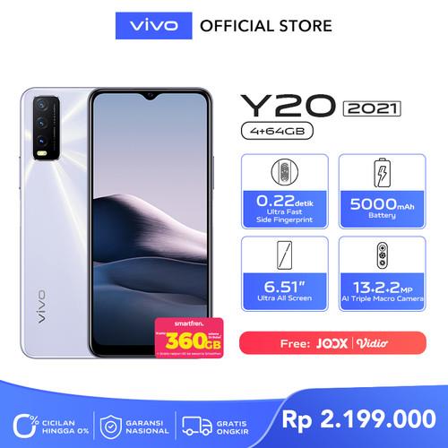 Foto Produk vivo Y20 2021 [4/64] RAM 4GB ROM 64GB Dawn White dari vivo Indonesia