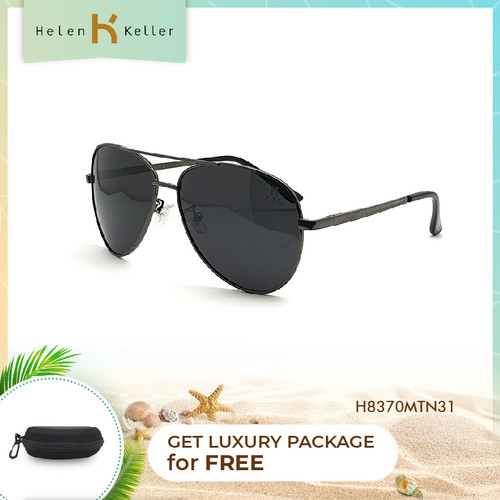 Foto Produk HELEN KELLER-Kacamata Hitam--Sunglasses Pria-UV-H8370MT-N31-Black dari Helen Keller Official