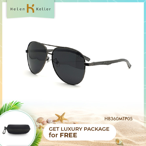 Foto Produk HELEN KELLER-Kacamata Hitam-Sunglasses Pria-UV-H8360MT-P05-Black dari Helen Keller Official