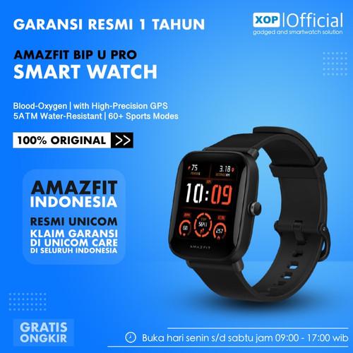 Foto Produk Amazfit Bip U Pro Smartwatch SpO2 GPS 60 Sport Modes - Garansi Resmi - Black dari XOP Official
