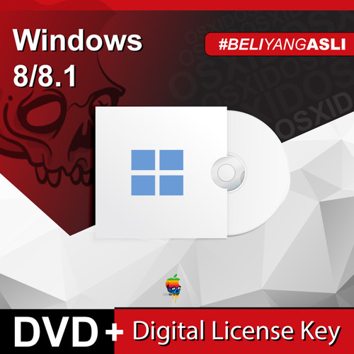 Foto Produk Windows 8/8.1 Pro/Enterprise - Original License - DVD - Win 8 Pro dari osx.id