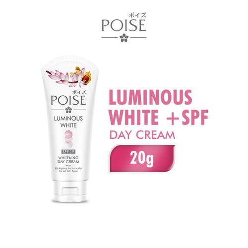 Foto Produk Poise Day Cream Luminous White + SPF 19 20 gr dari Wings Official Store