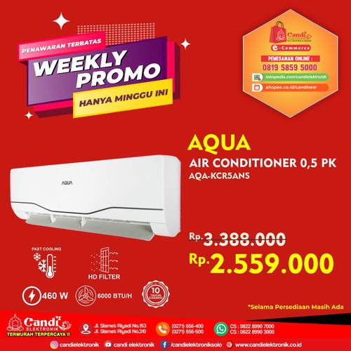 Foto Produk AQUA AIR CONDITIONER 0,5 PK AQA-KCR5ANS dari Candi Elektronik Solo