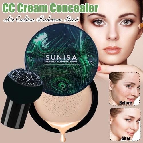 Foto Produk SUNISA Mushroom Head Air Cushion BB CC Cream Moisturizing Foundation dari Bursa Cosmetik Murah