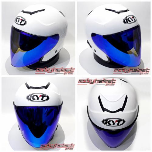 Foto Produk Helm KYT Kyoto - Visor Open Venom - Merah Doff, Visor Silver dari Moby Helmet Pride