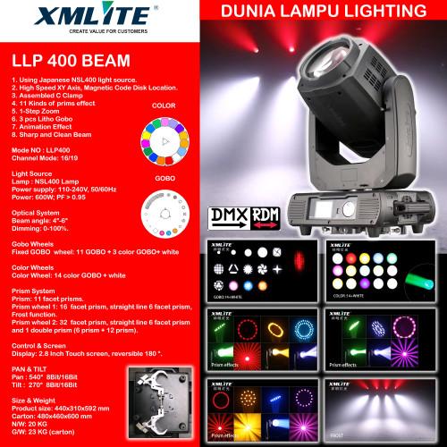 Foto Produk XMLITE BEAM 400 LLP400 NEW PRODUCT MOVING BEAM LAMPU LIGHTING PANGGUNG dari DUNIA LAMPU LIGHTING