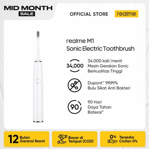 Foto Produk realme M1 Sonic Electric Tootbrush - Putih dari realme Official Store