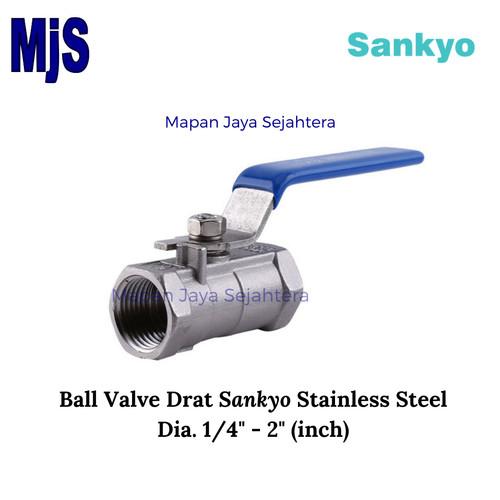 "Foto Produk Ball Valve Screw SANKYO / Kran Drat SS316 (Stainless Steel) Dia. 1/2"" dari Mapan Jaya Sejahtera"