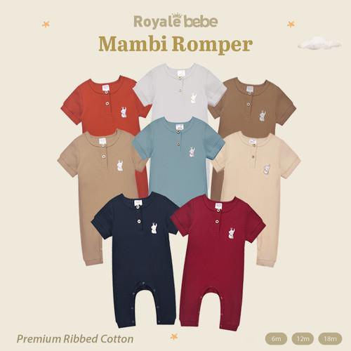 Foto Produk Royale Bebe - Sleepsuit Bayi (Mambi Romper) - Platinum Grey, 6m dari Royale Bebe id