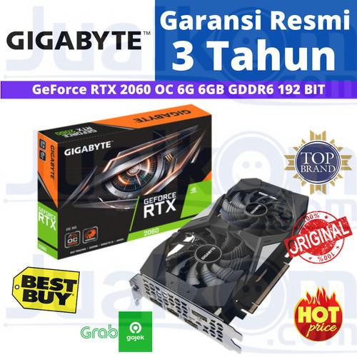 Foto Produk Gigabyte GeForce RTX 2060 OC Edition 6GB GDDR6 192Bit 2Fan VGA RESMI dari Karya Citra Computers