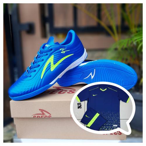 Foto Produk SEPATU FUTSAL SPECS ILLUZION SIMIC INFITINTY PAKET MURAH - blue, 39 dari hartoop footwear & sport socks
