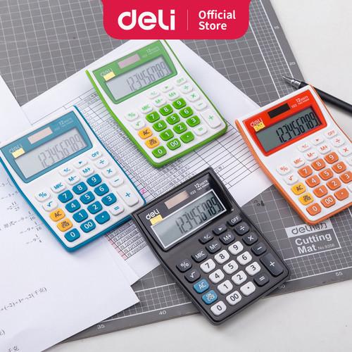 Foto Produk DELI Calculator 12-digit [E1122] - Kalkulator kantor 12 digit - Hitam dari Deli Stationery
