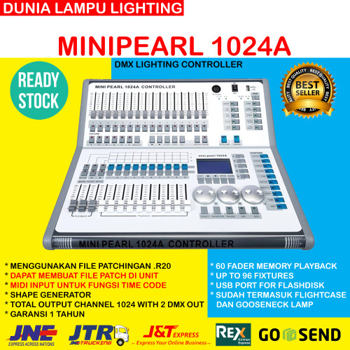 Foto Produk Minipearl 1024A Mini pearl 1024A dmx 512 lighting controller+flightcse dari DUNIA LAMPU LIGHTING
