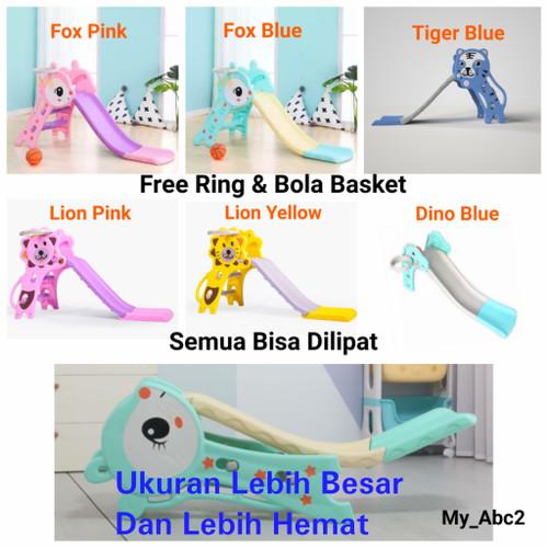 Foto Produk Mainan Anak Perosotan Lipat Ring Basket + Bola Seluncuran Prosotan - Lion Yellow, Kardus Saja dari My_Abc2