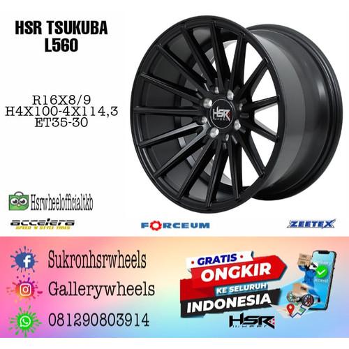 Foto Produk Velg Mobil TSUKUBA 560 HSR Ring 16 Semi Matt Black dari HSR Wheel Official TKB Group
