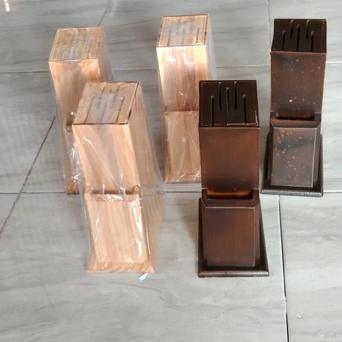 Foto Produk Tempat Pisau / Wadah Pisau dari Kayu Pinus dari el_artgallery