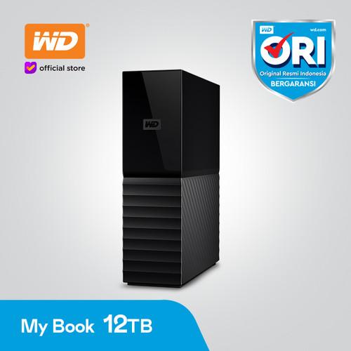 "Foto Produk WD My Book 12TB Black Hitam - HD HDD Hardisk Eksternal External 3.5"" dari WD Official Store"
