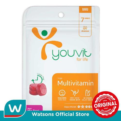 Foto Produk Youvit Gummy Multivitamin Mix Berri 7'S dari Watsons Indonesia