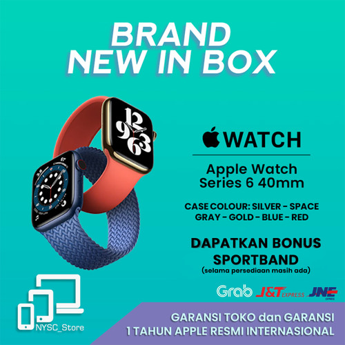Foto Produk Apple Watch Series 6 40mm Silver / Gold / Space Gray / Blue / Red - Blue dari Nysc