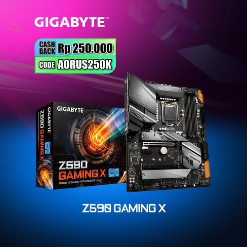 Foto Produk Gigabyte Motherboard Z590 Gaming X LGA1200 ATX 4 x DDR4 dari Myclub