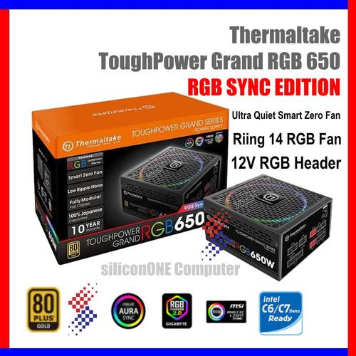 Foto Produk Thermaltake 650W Toughpower Grand RGB SYNC Tough Power 10 year 650 dari silicon ONE Computer