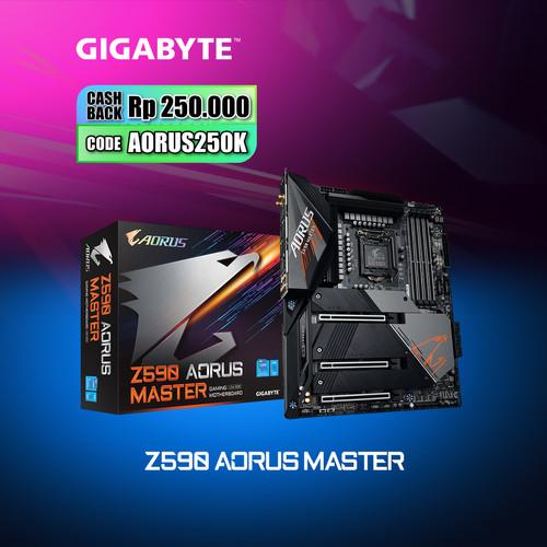 Foto Produk Gigabyte Motherboard Z590 Aorus Master LGA1200 ATX 4 x DDR4 dari Myclub