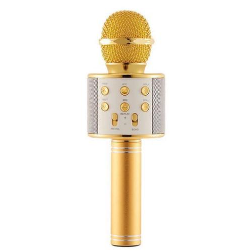 Foto Produk Mic Karaoke Bluetooth WS858 Smule Portable Wireless Microphone Speaker - gold dari T8-SEMARANG