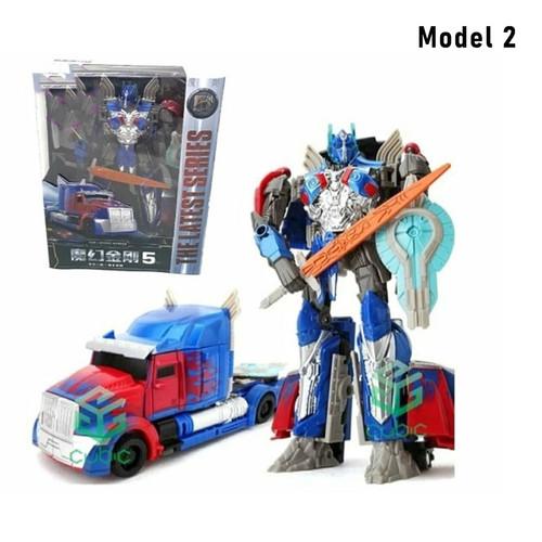 Foto Produk Mainan Die Cast Transformer Optimus Prime Robot Mobil 2in1 Hadiah Anak - Model 2 dari Shiny Electro