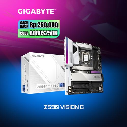 Foto Produk Gigabyte Motherboard Z590 Vision G Socket LGA1200 ATX 4 x DDR4 dari Myclub