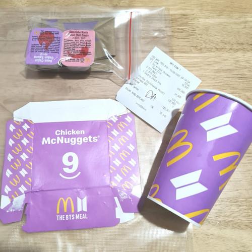 Foto Produk BTS X MCD MEAL MCDONALDS MENU LIMITED EDITION VACUUM PACK WITH SAUCE - unopened sauce dari Hime petshop