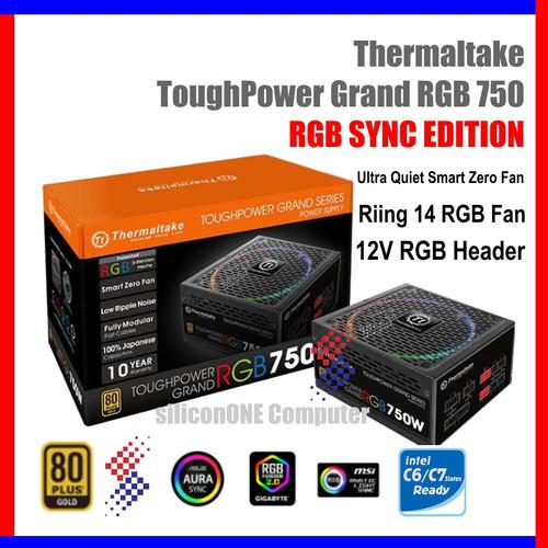Foto Produk Thermaltake 750W Toughpower Grand RGB SYNC Tough Power 10 year 750 dari silicon ONE Computer