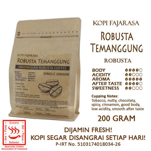 Foto Produk Kopi Fajarasa Robusta Temanggung Biji Kopi Robusta 200 gram dari Kopi Jayakarta