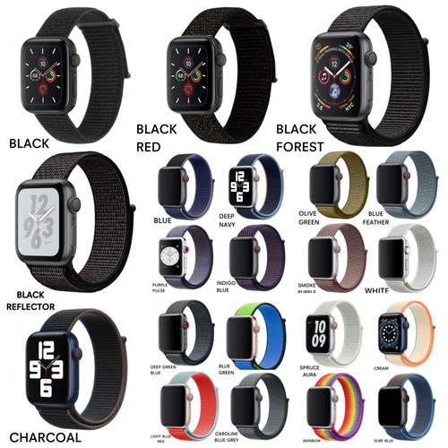 Foto Produk Apple Watch Series 6 5 4 3 2 1 Nylon Woven Strap iWatch Band Loop - 44mm dari AppShoppe