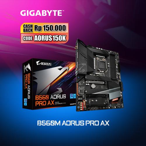 Foto Produk Gigabyte Motherboard B560M Aorus Pro AX Socket LGA1200 Micro ATX DDR4 dari Myclub