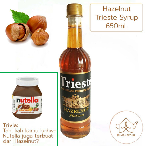 Foto Produk Trieste Italian Syrup 650mL Coffee Series - Hazelnut, Caramel, Vanila - Hazelnut dari Rumah Seduh