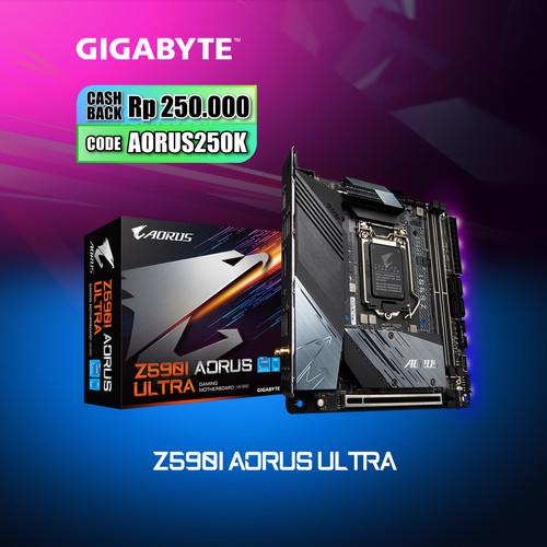 Foto Produk Gigabyte Motherboard Z590i Aorus Ultra LGA1200 Mini-ITX 2 x DDR4 dari Myclub
