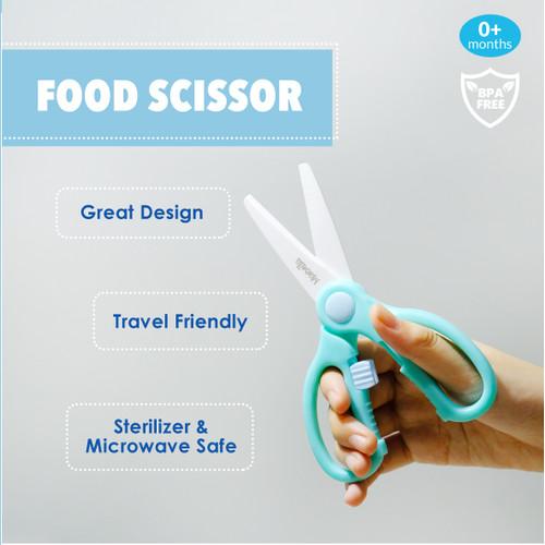 Foto Produk Marveila Premium Food Scissors Aqua/Gunting Makan dari Marveila & Friends