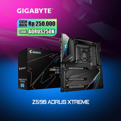 Foto Produk Gigabyte Motherboard Z590 Aorus Xtreme E-ATX Socket LGA1200 4 x DDR4 dari Myclub