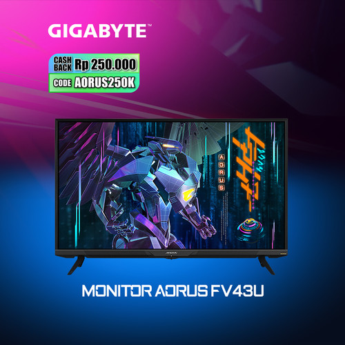 Foto Produk Gigabyte AORUS FV43U Gaming Monitor dari Myclub