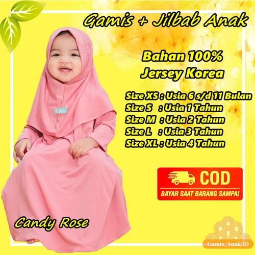 Foto Produk Baju Gamis Bayi Anak Perempuan 4 Tahun XL Muslim Daily Nuha Candy Rose dari Gamis Anak .ID