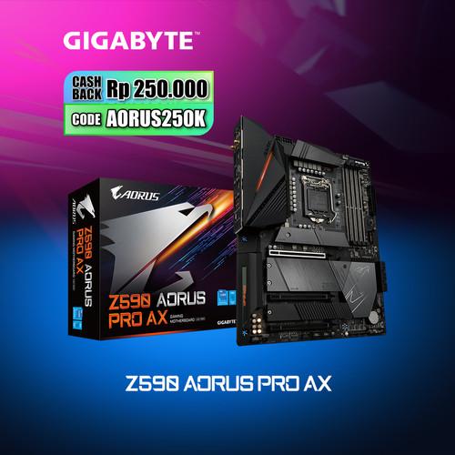 Foto Produk Gigabyte Motherboard Z590 Aorus PRO AX Socket LGA1200 ATX 4 x DDR4 dari Myclub